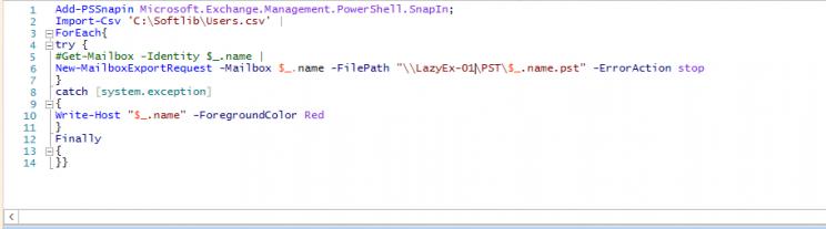 Bulk export Mailbox to  PST using PowerShell - ThatLazyAdmin