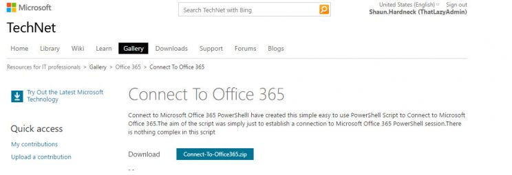 Connect To Office 365 PSSession Using A Script A Created To Simplify The  Connection :Connect Office365 PSSession. PowerShell