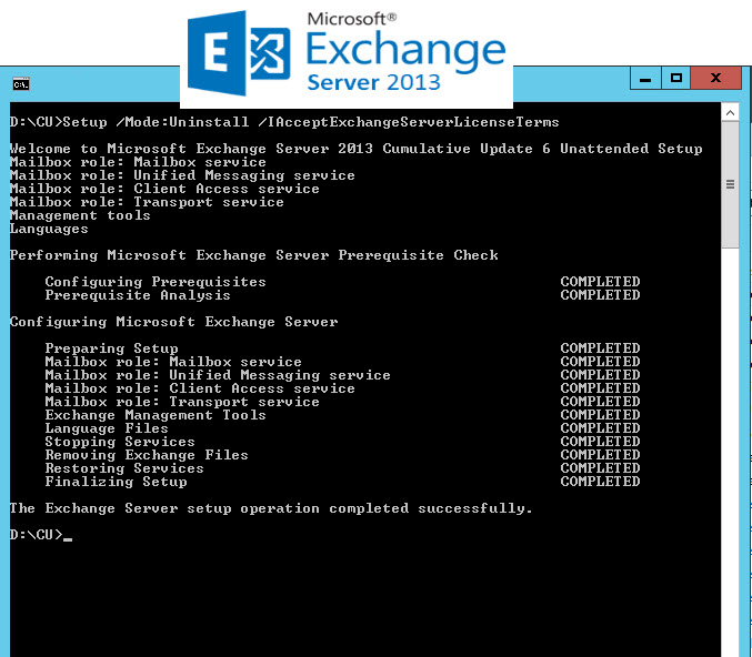 Removing Exchange 2013 Mailbox Server from Exchange