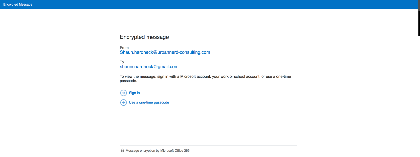 Encrypting Email Messages in Microsoft Office 365
