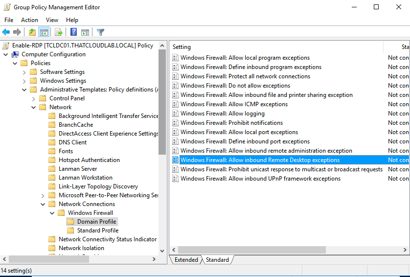 remove windows firewall group policy