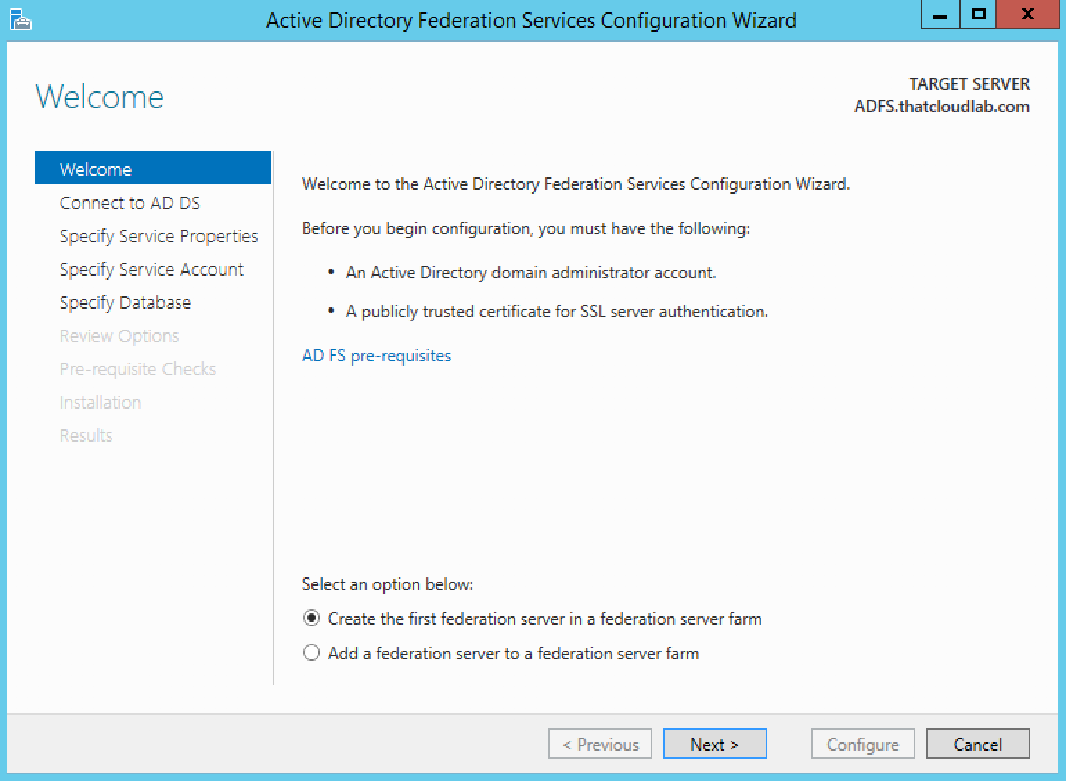 Configure ADFS for Office 365 - ThatLazyAdmin